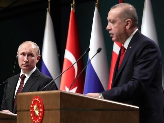 Путин и Эрдоган обсудили события в Идлибе