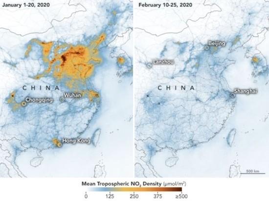 Распространение коронавируса улучшило экологию в Китае