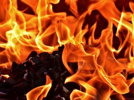 В Орле средь бела дня сгорел автомобиль