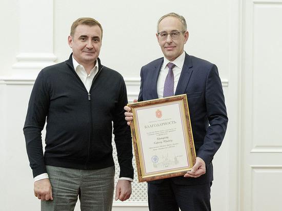 Тульский губернатор поблагодарил строителей детской больницы