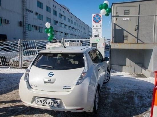 В областном центре открыта первая заправка для электрокаров