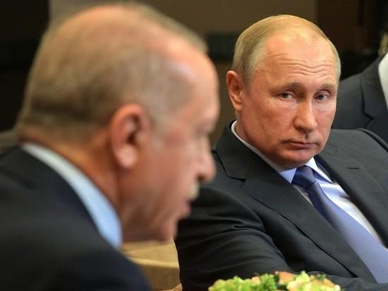 Эрдоган вылетел в Москву к Путину
