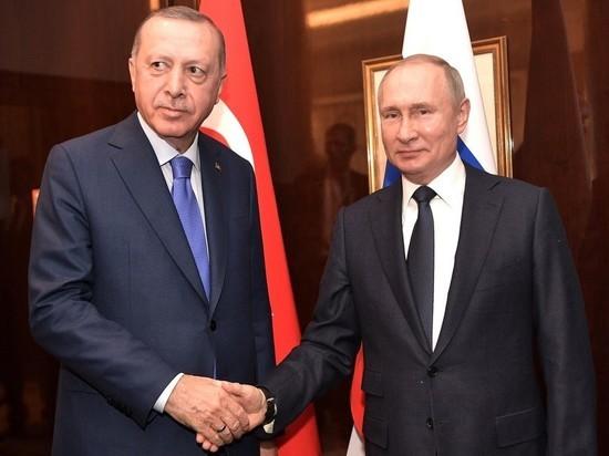 Путин заявил Эрдогану, что Россия дорожит отношениями с Турцией