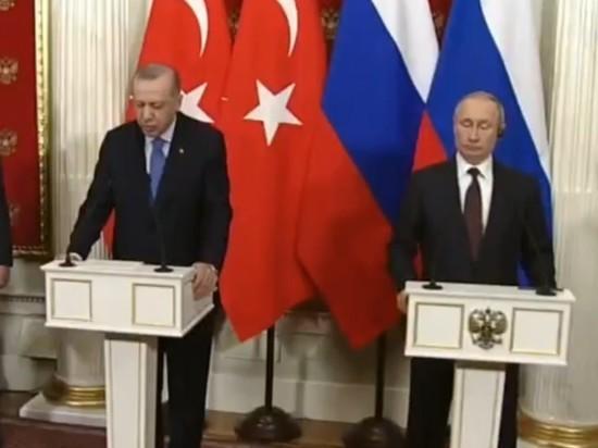 """Эрдоган назвал Путина """"дорогим другом"""""""