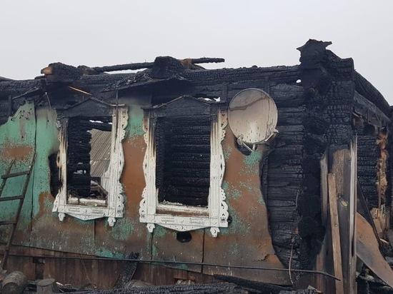 В Марий Эл полностью сгорел жилой дом