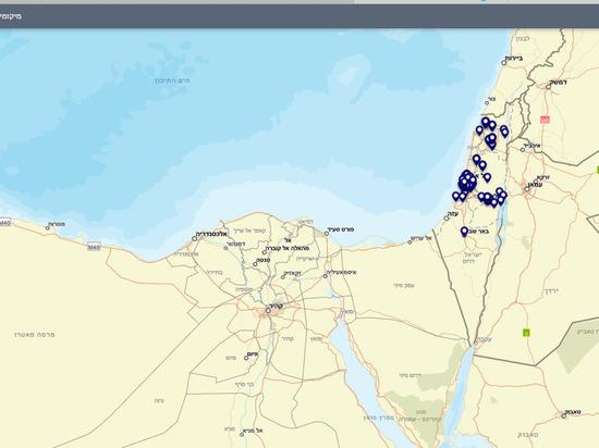 Опубликована он-лайн карта распространения COVID-19 в Израиле