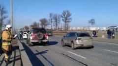 Появилось видео массового ДТП с участием джипа автооблогера