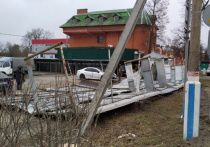 11-летнего мальчика и мужчину придавило забором, поваленным порывами ветра, в подмосковном  Ликино-Дулево Орехово-Зуевского городского округа