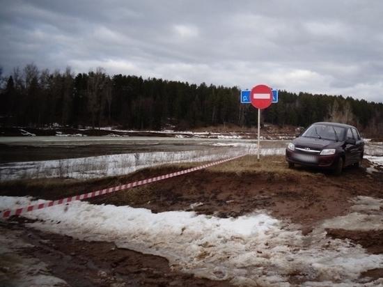 В Вавожском районе Удмуртии подтопило автомобильный мост через р. Вала