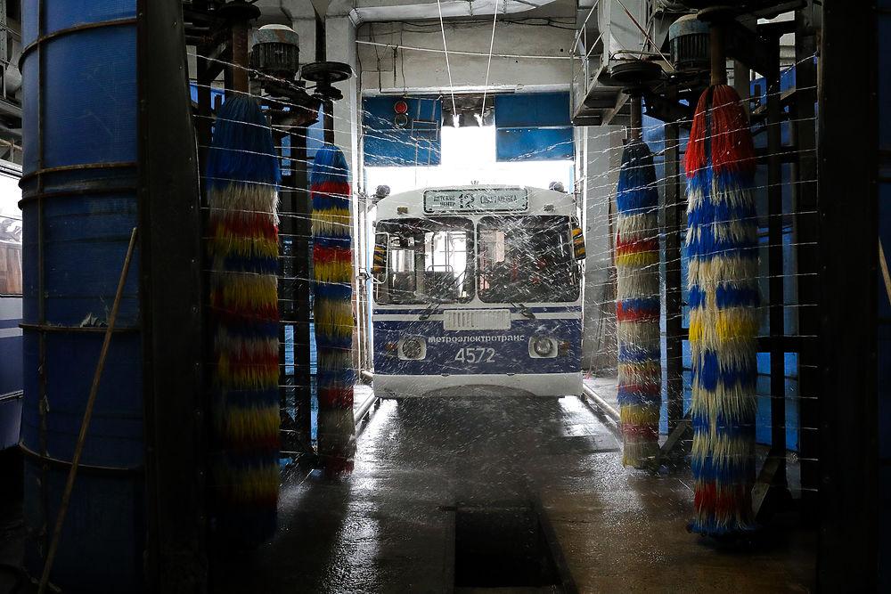 В Волгограде производят дезинфекцию общественного транспорта