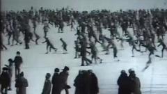 Нашли видео рекордного лыжного забега в Петрозаводске в 1980-х годах