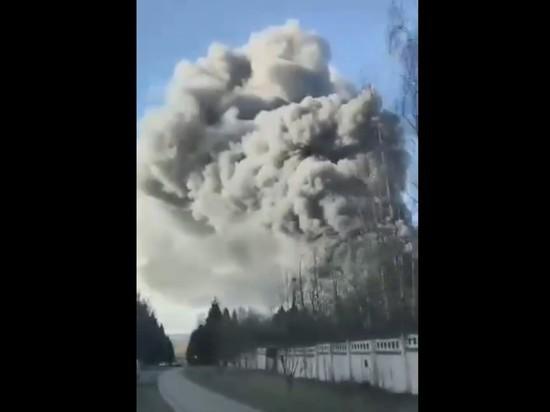 В Подмосковье произошел крупный пожар на складе