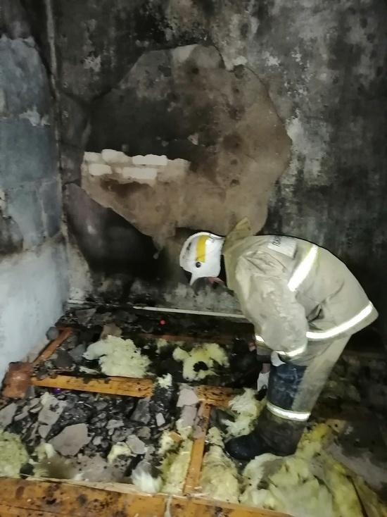 В Детчино сгорела квартира