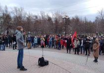 В Красноярске прошел митинг против обнуления сроков Путина