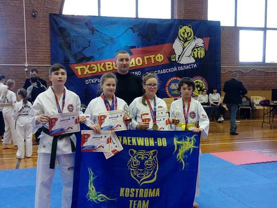 Полный триумф: костромские тхэквондисты вернулись из Ярославля с 19 наградами и двумя чемпионками