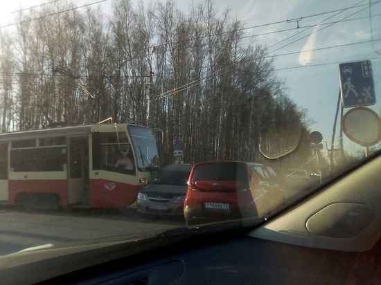 В Туле  трамвай и