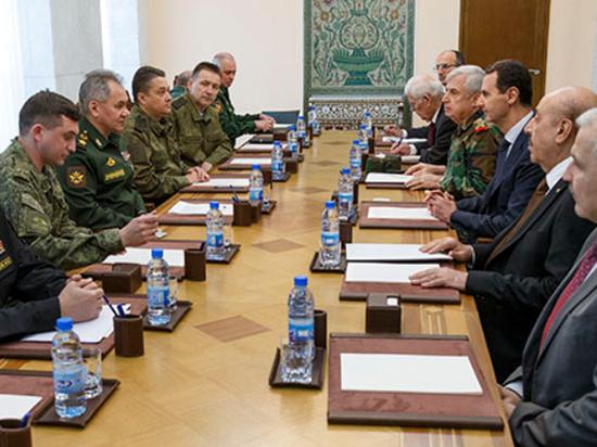 Эксперт объяснил, зачем Шойгу летал к Башару Асаду