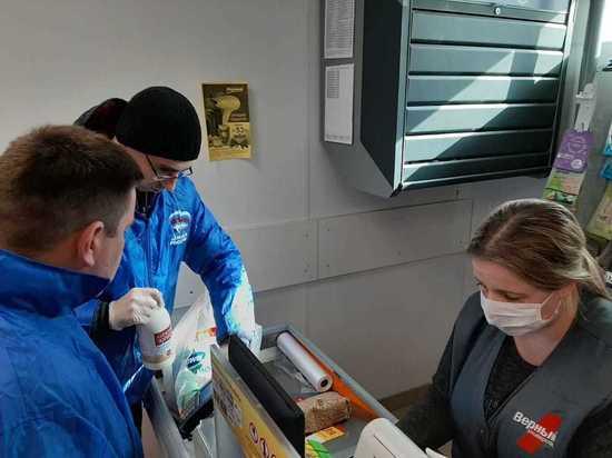 В Калуге волонтеры бесплатно доставили продукты пенсионерке