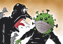 Отрицатели пандемии и напуганные коронавирусом вступили в жесткий клинч