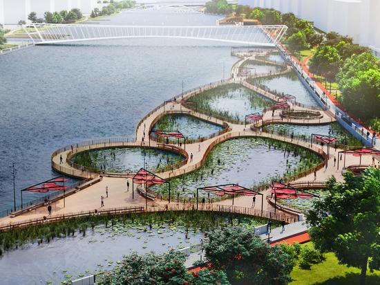 На набережной Марка Шагала Москва-река превратится в пруды