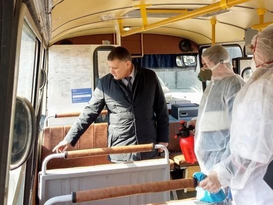 В Калуге проверили качество дезинфекции автобусов