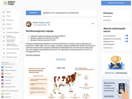 Назван российский онлайн-сервис, знающий все о сельском хозяйстве