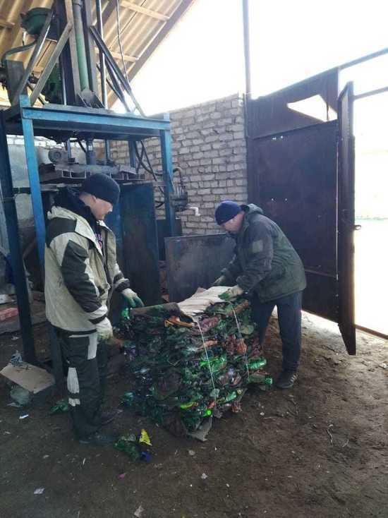 В калмыцком районе заработала переработка пластмассы