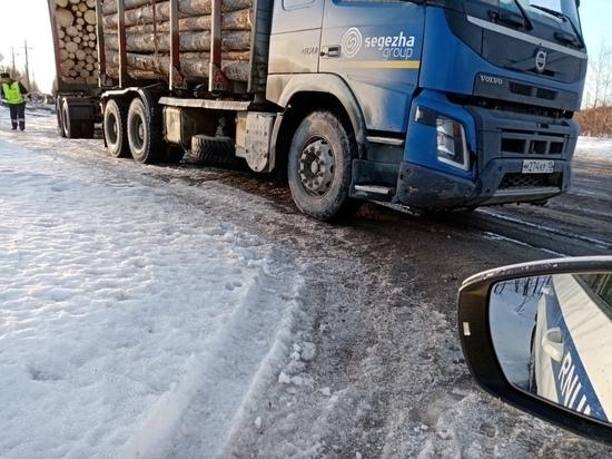 Карельская Госавтоинспекция проверяет лесовозы и большегрузный транспорт
