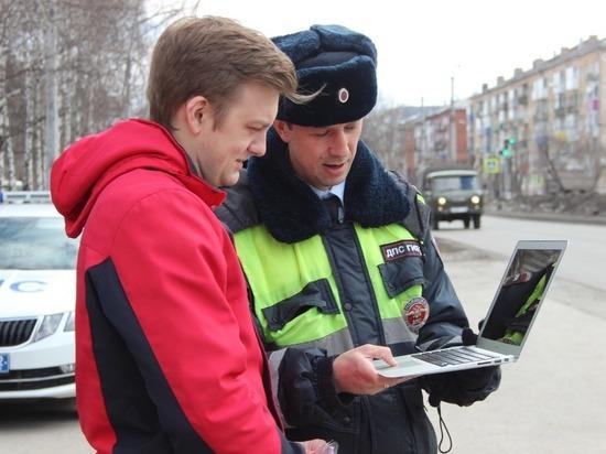 Полицейские Кузбасса вновь начали показывать автомобилистам шок-конент