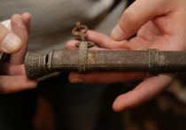 Школьники под Тулой нашли ножны фашисткой железнодорожной полиции