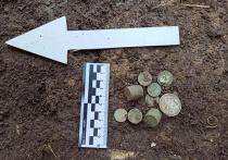 В Краснодаре нашли клад серебряных монет