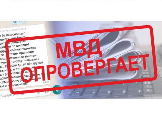 МВД по Республике Марий Эл опровергло слухи о рейдах по школам