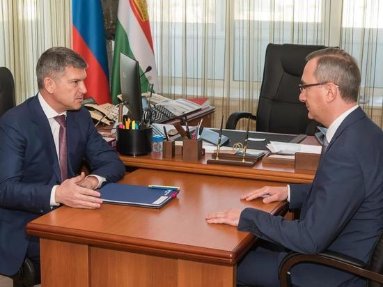 Врио калужского губернатора Шапша и глава Россетей Маковский провели рабочую встречу