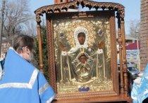 В Мичуринск привезли чудотворную икону Божьей Матери