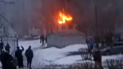 Появились кадры с места взрыва в Магнитогорске: горят квартиры