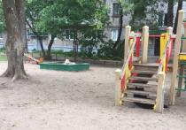 В Тверской области собаки пугают малышей на детской площадке
