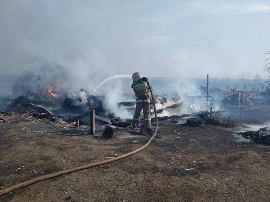 В Меленковском районе сгорели десять домов