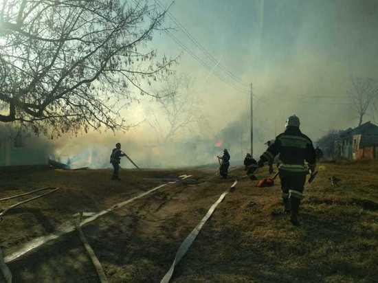 В Меленковском районе сжигание мусора стало причиной крупного пожара