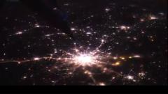 НАСА показало потрясающее видео ночной Земли из космоса