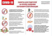 Серпуховским родителям доступна Памятка на период эпидемии коронавируса