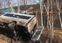 В иркутском микрорайоне Лесной перевернулась маршрутка