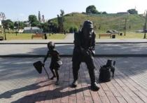 Вандала, сломавшего скульптуру «Рыбаки» в Серпухове, оштрафовали