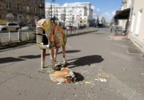 Вандалы, разломавшие петрозаводского «лося», попали на видео