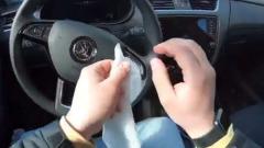 ЦОДД показал на видео, как правильно дезинфицировать автомобиль