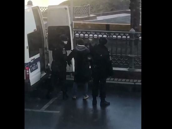 В Москве задержали выгуливавшего собаку мужчину