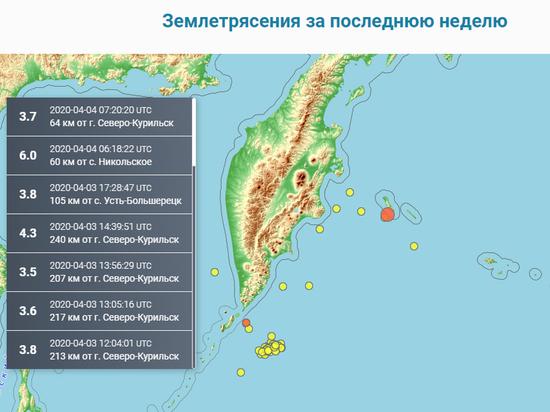 У Командорских островов произошло сильное землетрясение