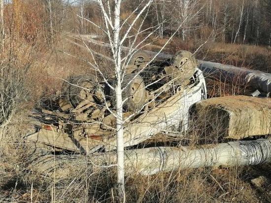 Автомобиль Nissan вылетел с дороги в Чернышевском районе