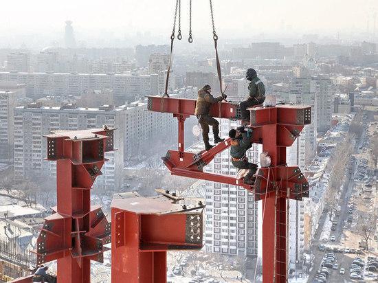 В Хакасии рабочий на стройке разбился, упав с 15 этажа