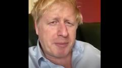 Больной Борис Джонсон перед отправкой в больницу записал видео