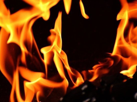 Ночью в Орле сгорел нежилой дом